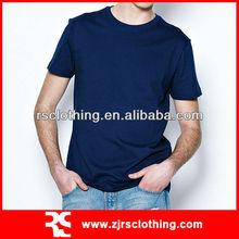 Mens Promotional Plain 100% Cotton White T shirts Round Neck T-shirt