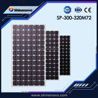 SP300-320 M72 TUV standard 320w mono crystalline silicon PV solar module panel