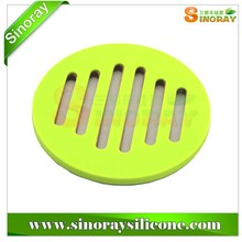 Round Silicone & Bamboo Pot Holder