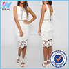 New item 2016 girls sexy night dress photos Lace applique dress