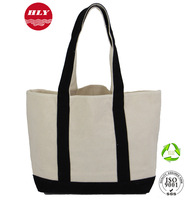 Heavy Duty 2 Toned Wholesale Eco Blank Standard Size Canvas Tote Bag