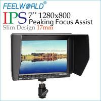 "FEELWORLD 1280*800 Slim Design 7"" Monitor on film camera with HDMI av input"