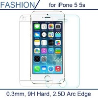 For apple iphone 5 5s 5c Explosion-Proof tempered glass screen protector film 9H tempered glass