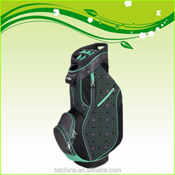 black and green colorful custom made golf bags