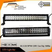 CREE IP68 double row 120w lifetime warranty marine and offroad led light bar
