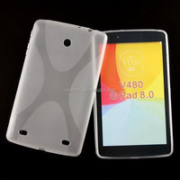 S Line Soft Gel TPU Silicon Skin Case Cover For LG G Pad 8.0 V480 Tablet