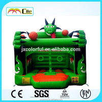 CILE Newly Design Green Devil Indooor Inflatable Bounce Trampoline for Amusement