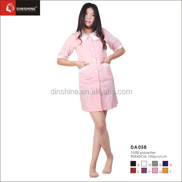 Stylish fabric beaty wear salon uniform for nail salon for Spa uniform indonesia