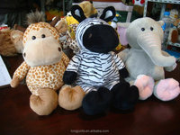 cute soft plush zebra,plush Hippo,plush elephant,plush animals