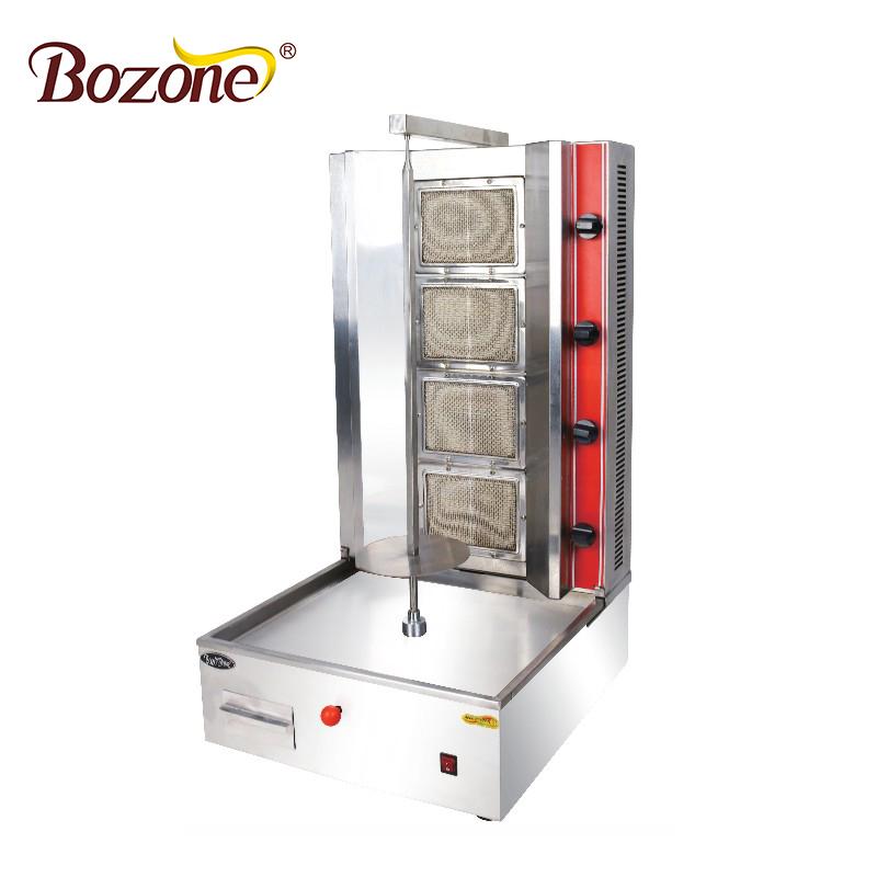 Tragbare Restaurant Ausrüstung Desktop Vertikale Gas-schawarma-maschinen <span class=keywords><strong>Maschine</strong></span> Gyros Grill Mit 4 Brenner