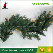 Alibaba China Beautiful Artificial wholesale christmas led lights garland indoor outdoor decoration