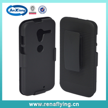 mobile phone plastic shell for Motorola xt1058 with belt clip and kickstand