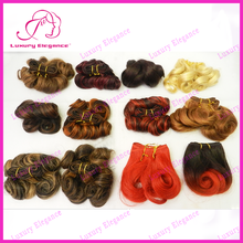 Free Shipping 8 Inch Different Color Short Afro Curl Hair Factory Wholesale 100% Indian Hair