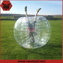 2015 Promotion 0.8mm PVC/TPU 1.5m Dia Walk In Plastic Bubble Ball Inflatable Human Bubble Ball For Person Above 1.65M