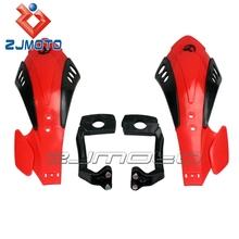 "ZJMOTO motorcycle fairings Dirt bike Brush Bar 7/8"" 22mm motorcross red handguard fit for RMZ RM XR CRF Gas Gas"