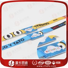 Low Price Premium Smooth to Skin Customize RFID Woven Wristband