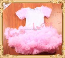 Super Cute Fluffy Petti Skirt Set T shirt with fluffy Skirt Dancing Dress Princess Dress Set Most Popular