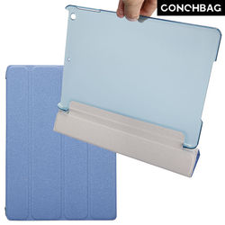 Newly arrival! 0.8cm thickness ultra slim leather four plates strong magnet stand case cover for ipad air Paypal accept