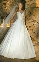 Latest design bridal gowns made to measures MW5679 country western wedding gowns alibaba satin wedding dress 2015