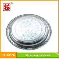 26cm 410SS tablware stainless steel Fruit Trays/Dishes/ kitchen Plate