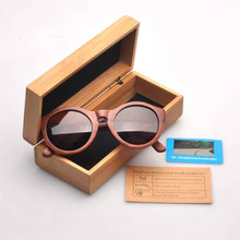 Wood sungless Vintage wooden glasses Retro Style with bamboo box