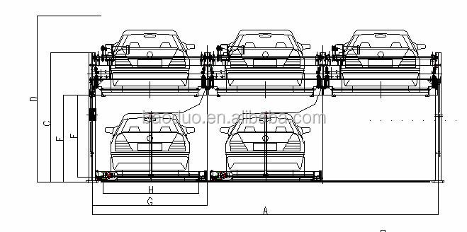 Ascenseur coulissante 2 niveaux parking souterrain for Hauteur garage sous sol