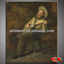 Popular Western cowboy painting for wall decoration