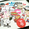 Promotional Lovely PVC Sticker Bike Sticker Mixed Design Vinyl Stickers