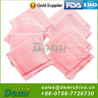 disposable pet pads with pink/blue/white and other PE film color water proof