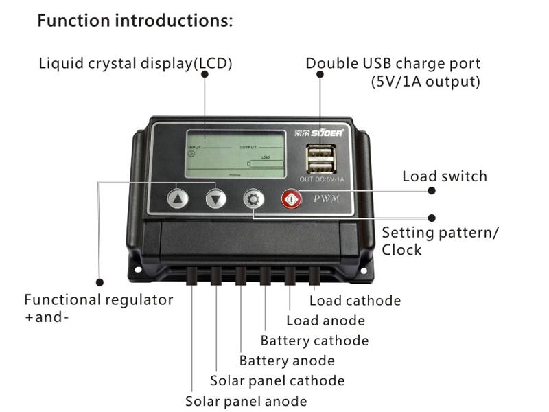 12v 24v solar charger controller 10a solar system controller buy 12v solar charger controller. Black Bedroom Furniture Sets. Home Design Ideas