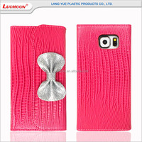 Lizard grain PU mobile phone leather case for s6/s6 edge, for samsung