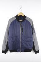 Mens Purple Body Plaid Sleeve Cheap Windbreaker Jacket