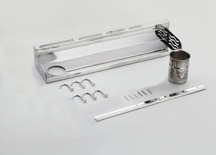 Buy Nice 40cm  Multi-function Storage Rack Knife Chopping Block Holder including a hanging rod and 5 hooks 7140 cheap