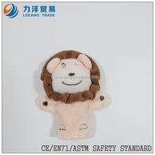 good quality plush finger puppets(lion), Customised toys,CE/ASTM safety stardard