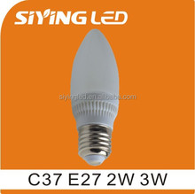 best selling plastic e27 c37 4w 220v led light bulb