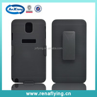 wholesale fancy bulk cell phone cases with rotating belt clip stand for samsung N9000 NOTE 3