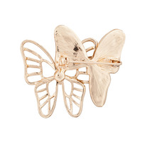 Fine costume jewelry cheap brooches in bulk fashionable rhinestone butterfly brooch for women