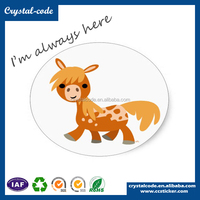 3d animal shaped blank waterproof self adhesive cartoon and kids sticker