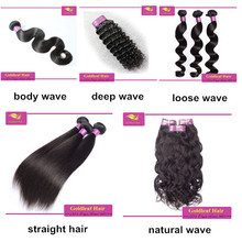 Full thick hair no split end Tangle free natural top quality wave remy hair extension