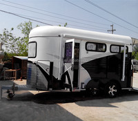 2HAL-D 2 horse trailer used for horse with kitchen