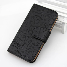 Colorful Magic Girl Flip Leather Case Cover Little Witch for iPhone5 5G
