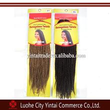 "2015 Hot sale18"" 95g Crochet braids hair Senegalese twist Synthetic Afro Kinky Hair Braids"