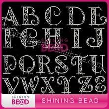 alphabet letter rhinestone cake topper crystal silver plating cake decorating supplies