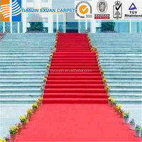 Cheaper Nonwoven red stair runner carpet for exhibition