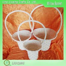 Wholesale Factory Round Hat-shape White Willow/Wicker Fruit/Gift/Flower Storage Basket