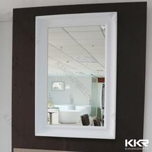 White solid surface frame mirror standard rectangle bathroom/washroom/bedroom mirror