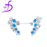 2015 high fashion jewelry value silver 925 opal earring alibaba express