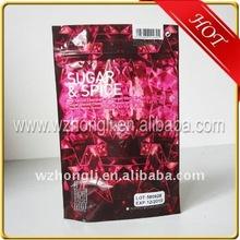 cosmetics aluminum foil zipper bag