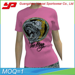 china supplier wholesale girls printed t shirts ,3d printed cotton female t shirt and custom print