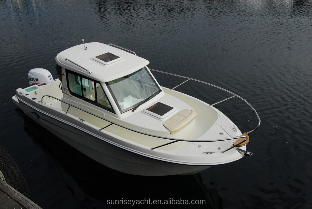 Oceania 23wa Small Closed Cabin Fiberglass Boat Fishing